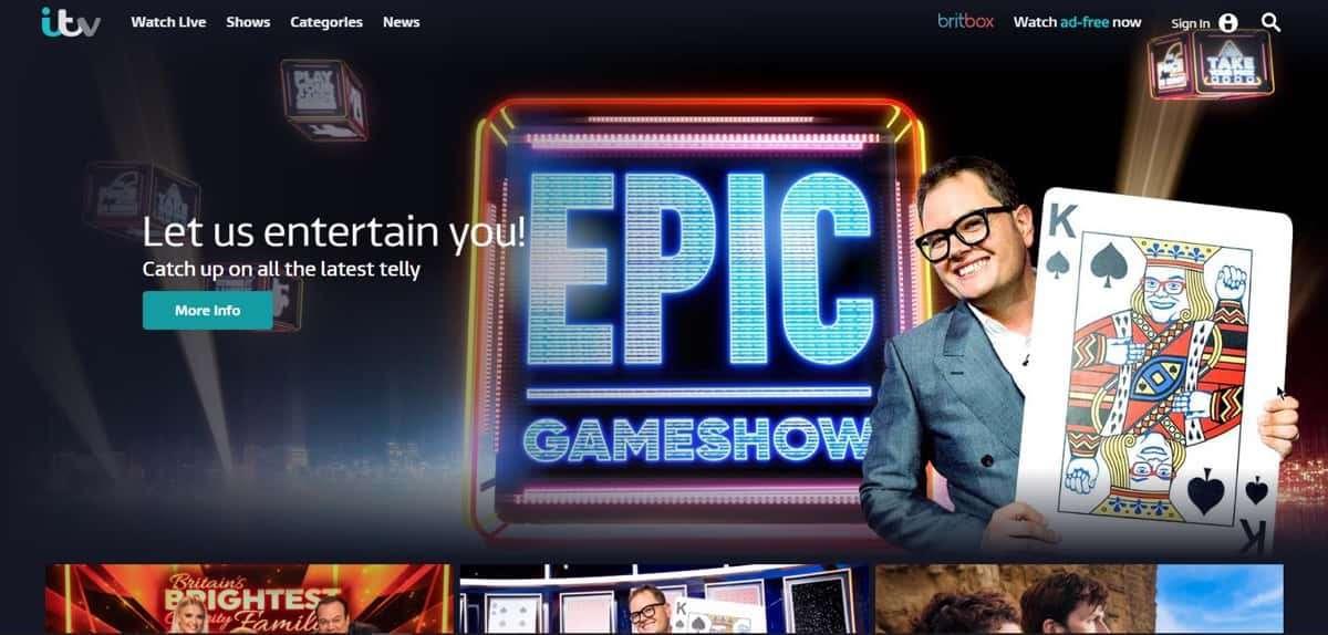 Wie man ITV-Spieler außerhalb Großbritanniens beobachtet